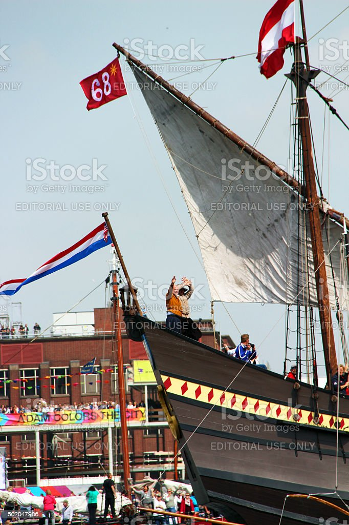 Amsterdam: Tall Ships at SAIL Amsterdam 2015 stock photo