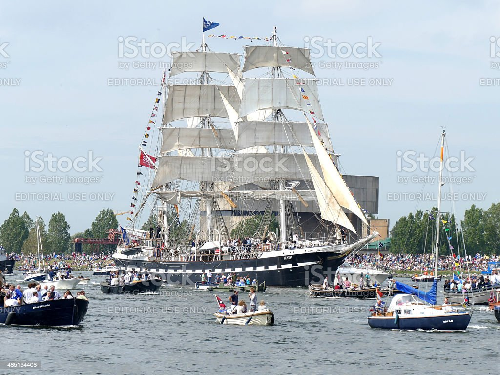 Amsterdam, The Netherlands 19 august 2015: Sail 2015 stock photo