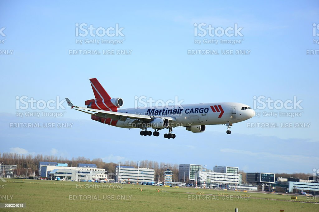 Amsterdam, The Netherlands, april 11, 2015 PH-MCY Martinair Holl stock photo