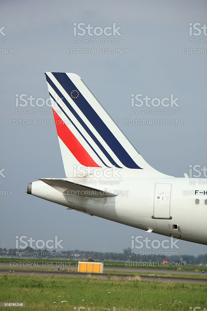 Amsterdam, The Netherlands - August 10 2015: F-HEPH Air France stock photo