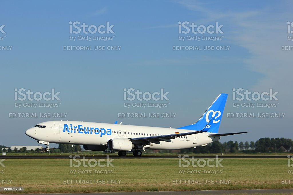 Amsterdam, the Netherlands - August, 18th 2016: EC-MJU Air Europa stock photo