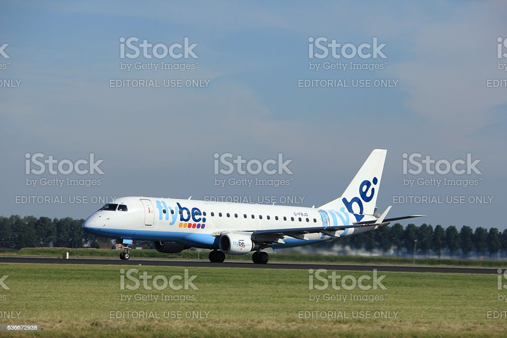 Amsterdam, the Netherlands - August, 18th 2016: G-FBJD Flybe stock photo
