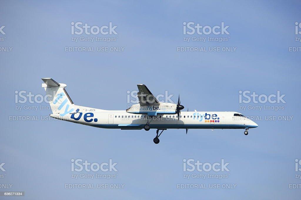 Amsterdam, the Netherlands, July, 21st 2016: G-JECX  Bombardier Dash stock photo