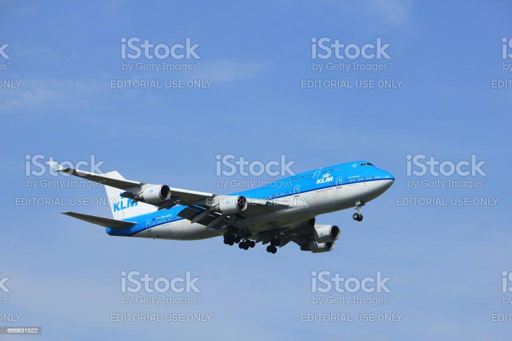 Amsterdam, the Netherlands, July, 21st 2016: PH-BFG KLM Boeing 747-406 stock photo