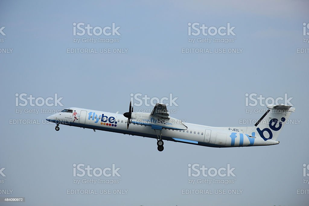 Amsterdam, The Netherlands - June 12 2015: G-JECL Flybe De stock photo