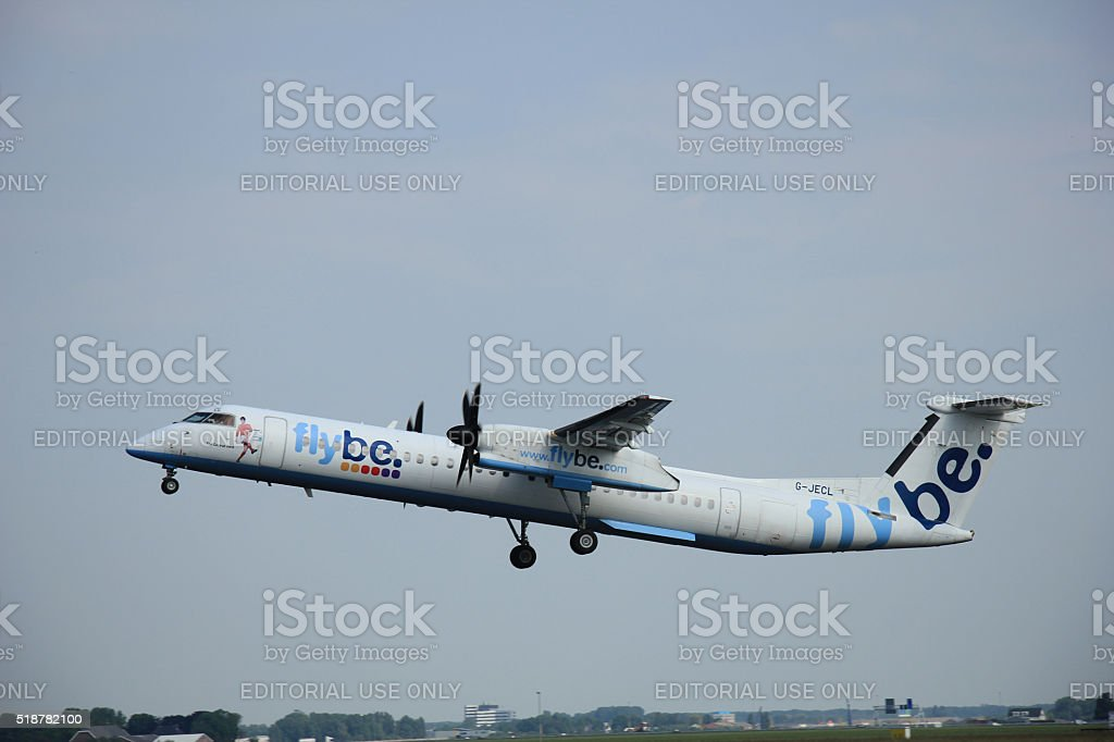 Amsterdam, The Netherlands - June 12 2015: G-JECL Flybe stock photo