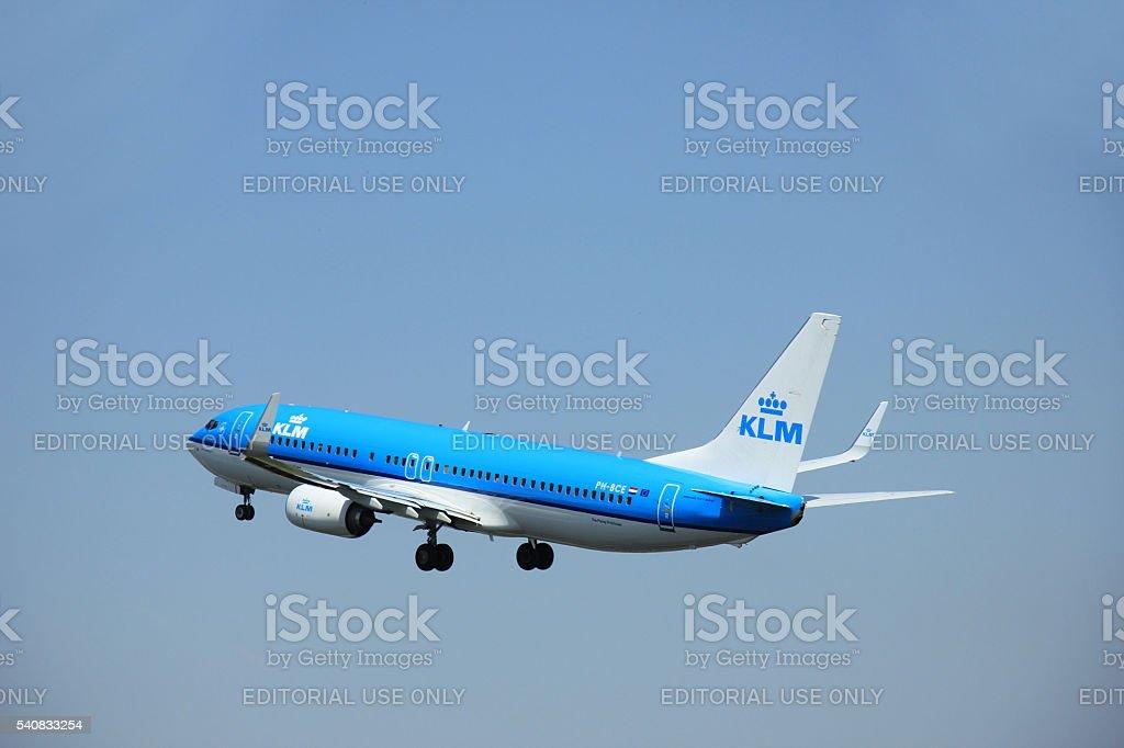 Amsterdam, The Netherlands - June 12 2015: PH-BCE KLM Boeing stock photo