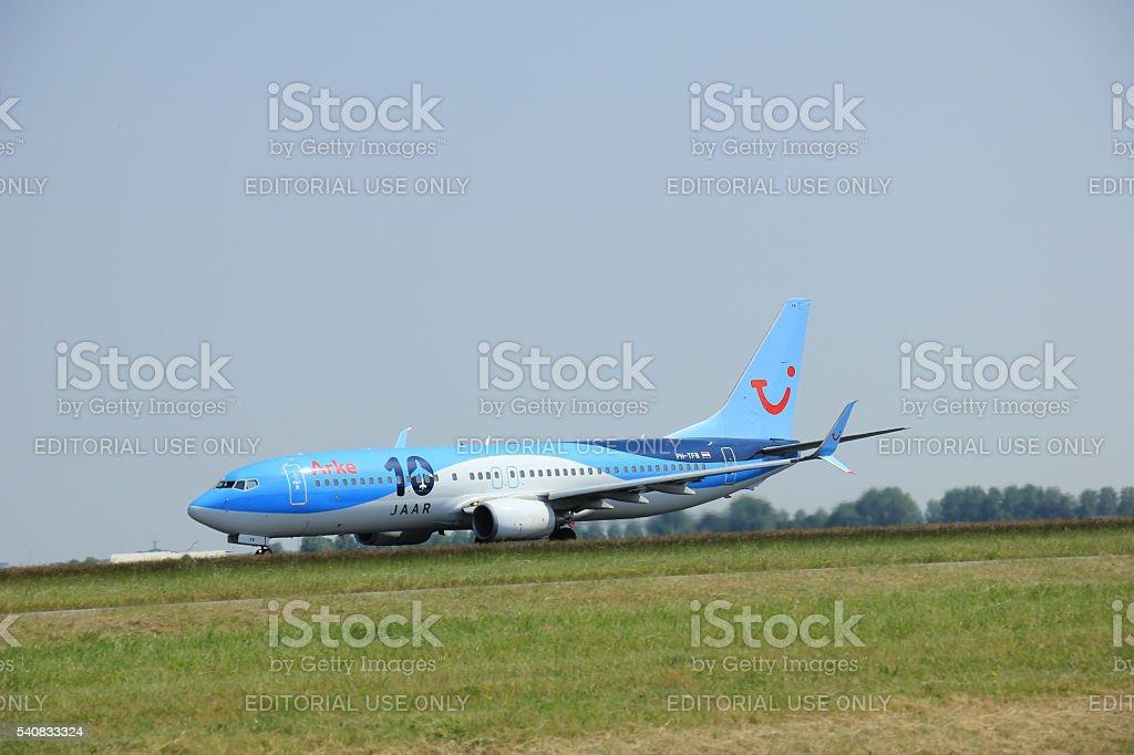 Amsterdam, The Netherlands - June 12 2015: PH-TFB Arke Boeing stock photo