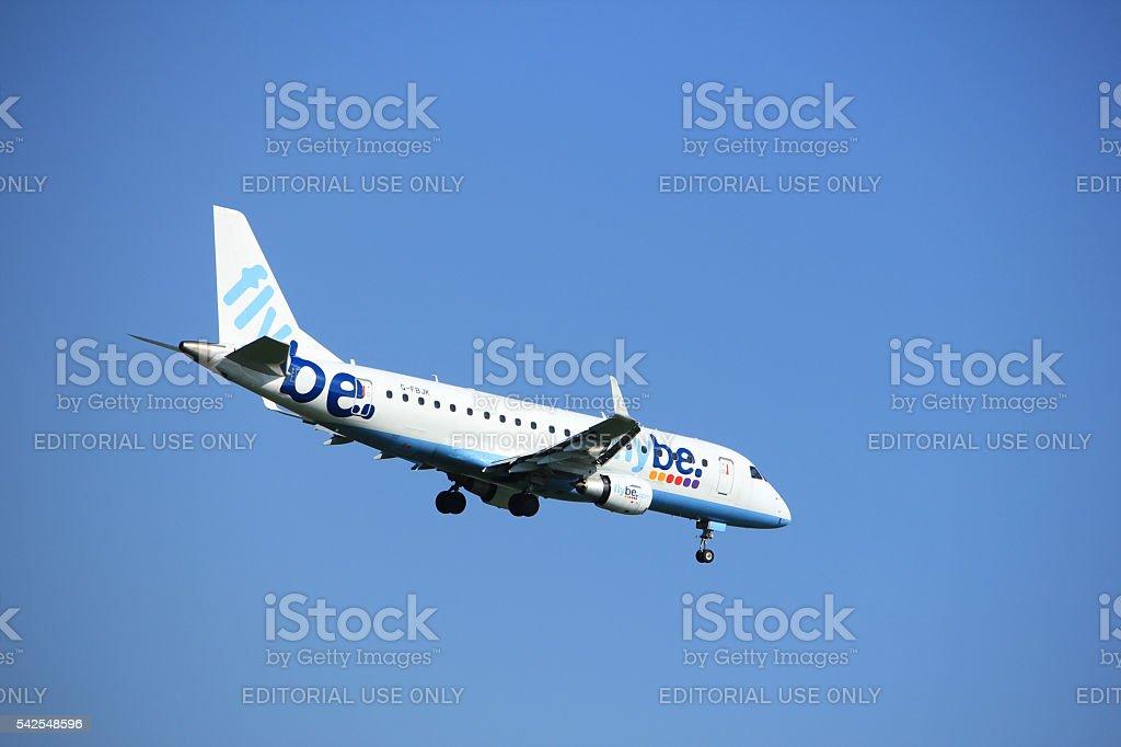 Amsterdam the Netherlands - June 24th, 2016:  G-FBJK Flybe Embra stock photo