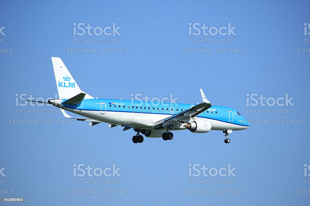 Amsterdam the Netherlands - June 24th, 2016:  PH-EZF KLM Cityhop stock photo