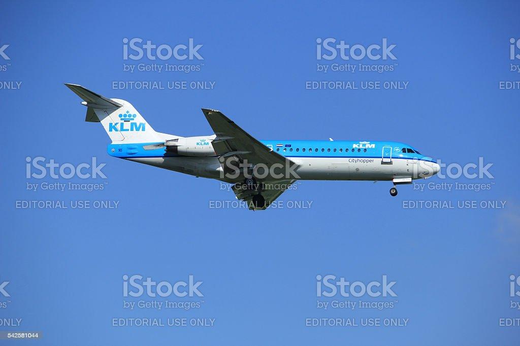 Amsterdam the Netherlands - June 24th, 2016:  PH-KZK KLM Cityhop stock photo