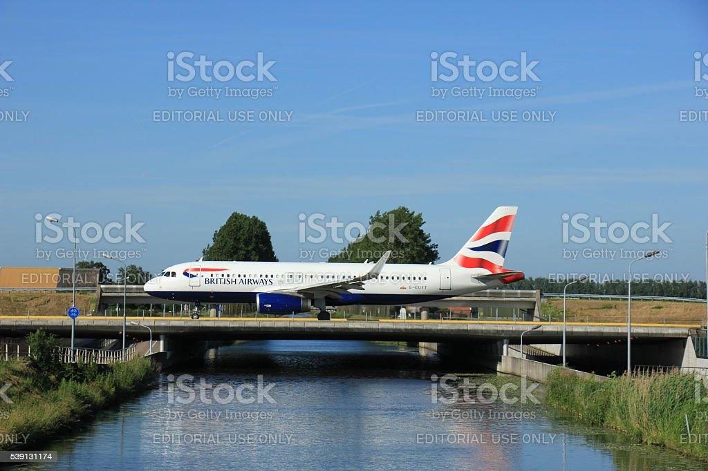 Amsterdam, the Netherlands - June 9th 2016: G-EUYT British Airwa stock photo