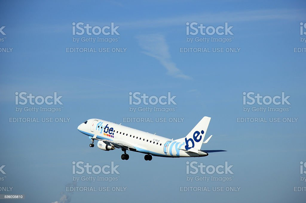 Amsterdam, the Netherlands - June 9th 2016: G-FBJE Flybe stock photo