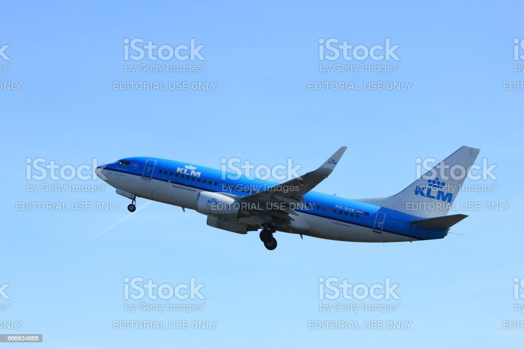 Amsterdam the Netherlands - March 25th, 2017: PH-BGK KLM Royal Dutch Airlines Boeing 737-700 stock photo