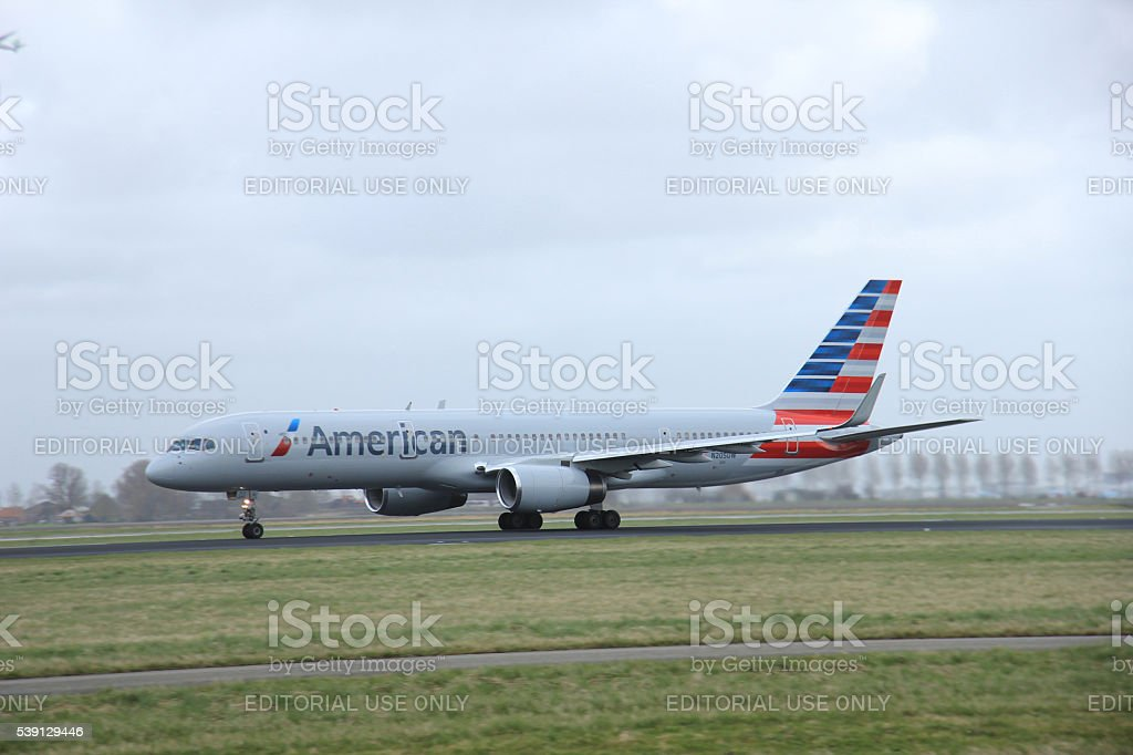 Amsterdam, the Netherlands - March, 27th 2015:    N205UW America stock photo