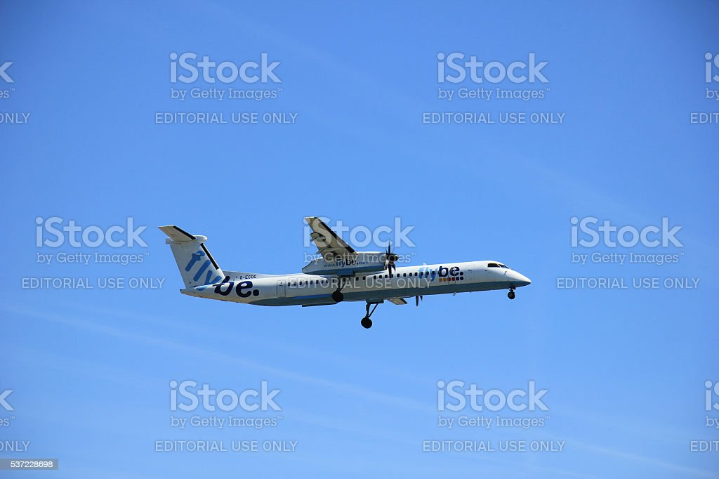 Amsterdam the Netherlands - May 5th 2016: G-ECOG Flybe stock photo