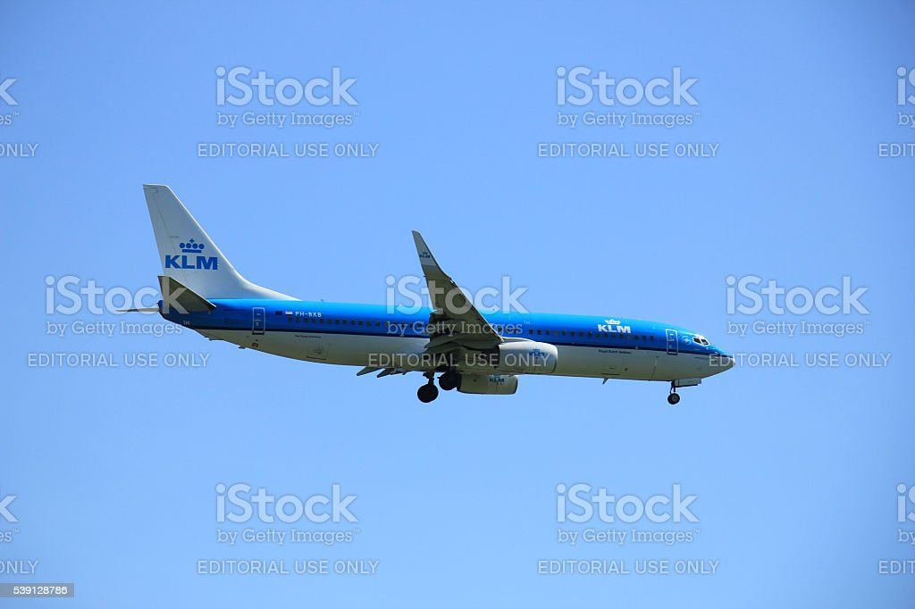 Amsterdam the Netherlands - May 5th 2016: PH-BXB KLM stock photo