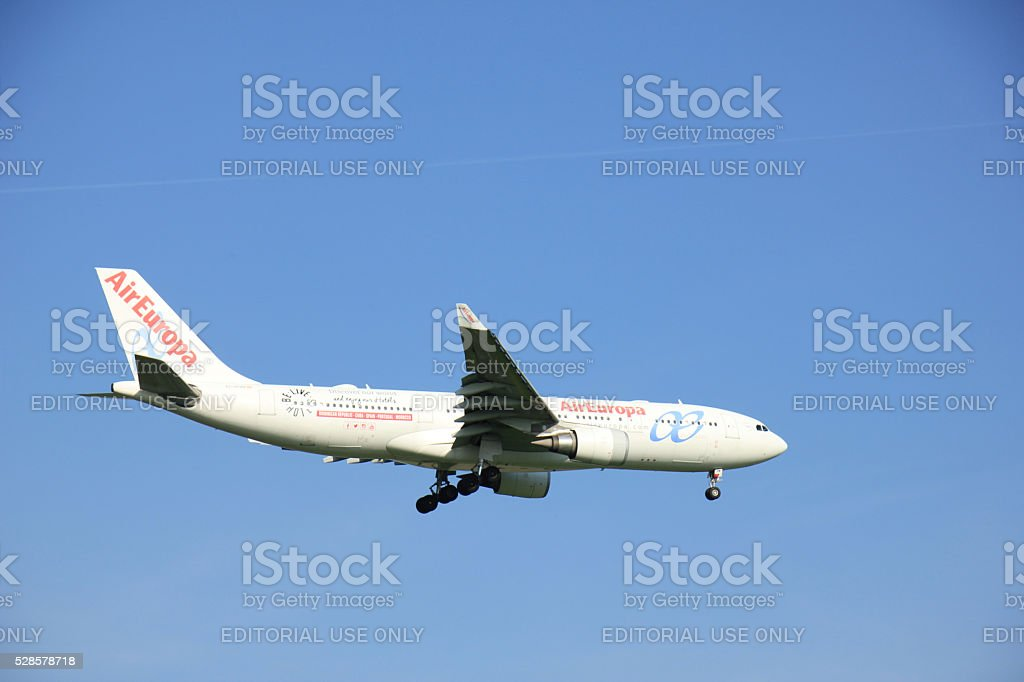 Amsterdam the Netherlands - May 6th 2016: EC-KOM Air Europa stock photo