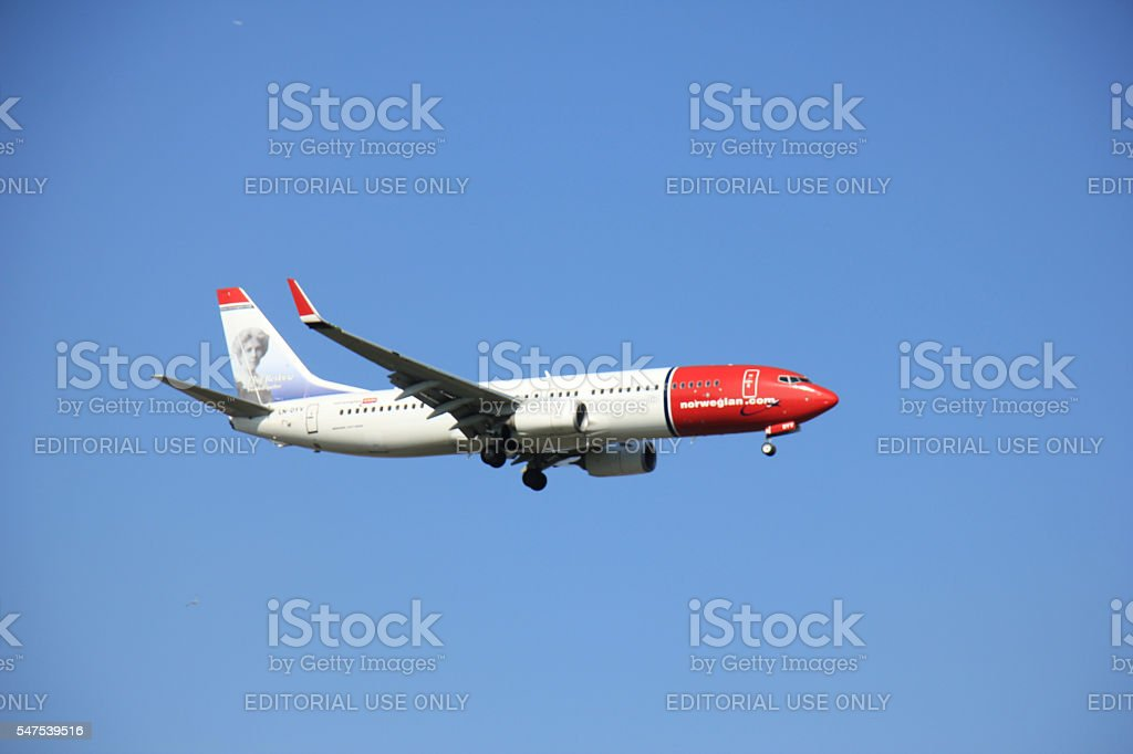 Amsterdam the Netherlands - May 6th 2016: LN-DYV Norwegian stock photo