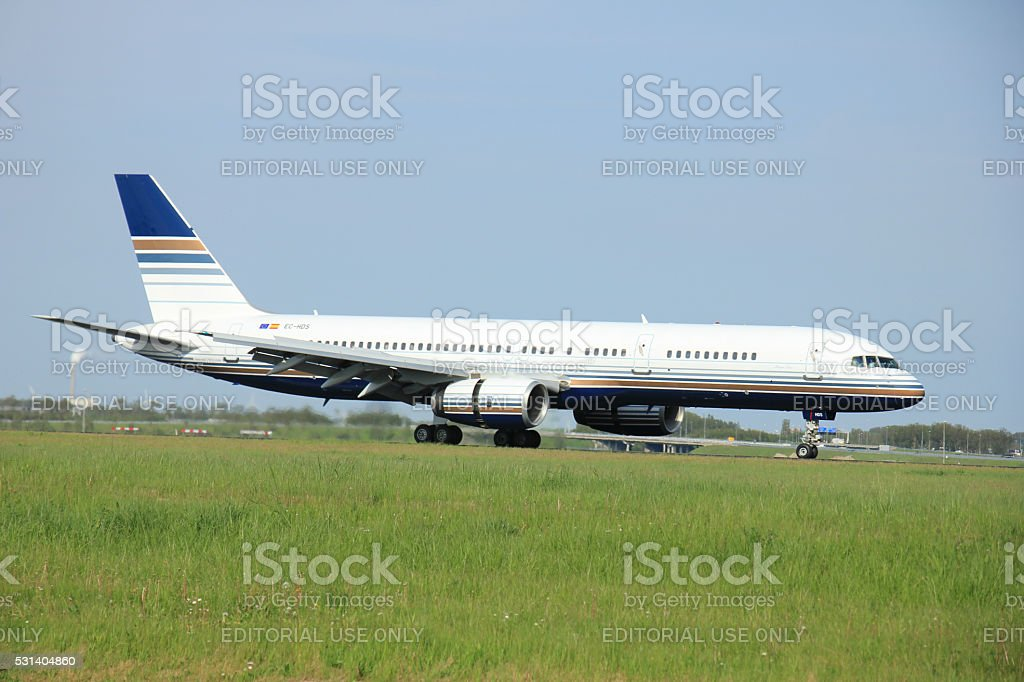Amsterdam the Netherlands - May,11th 2015 : EC-HDS Privilege stock photo