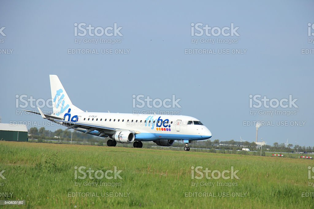 Amsterdam the Netherlands - May,11th 2015:   G-FBJH Flybe Embrae stock photo