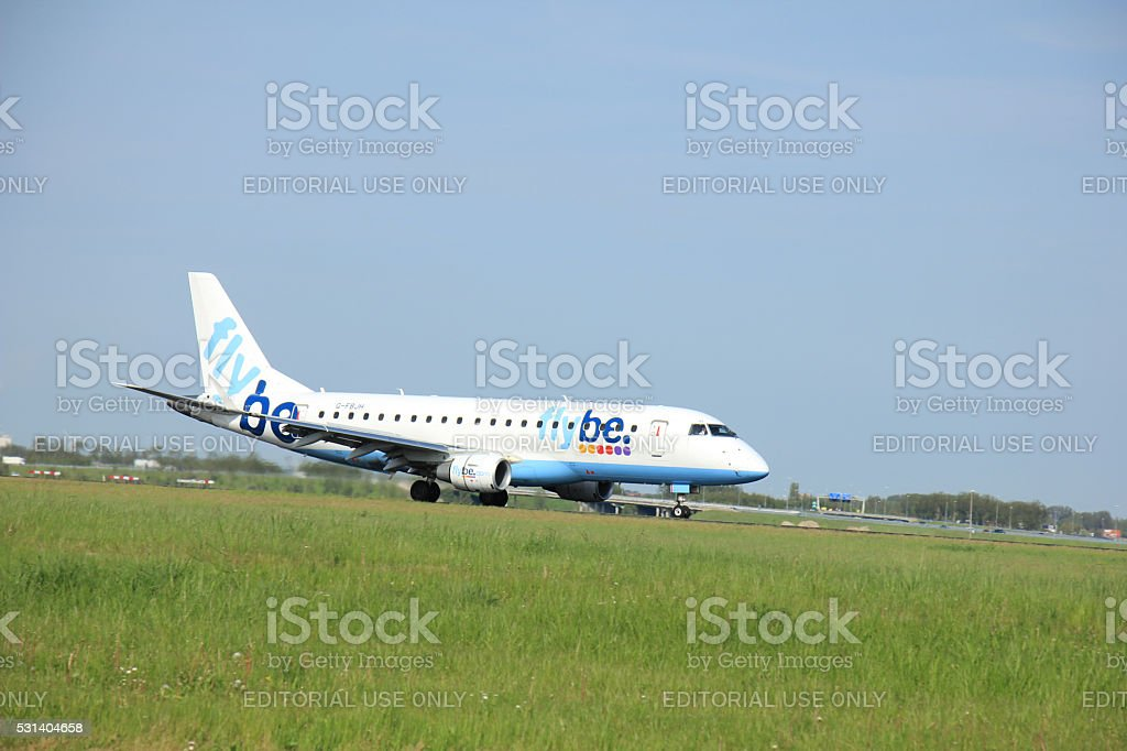 Amsterdam the Netherlands - May,11th 2015 : G-FBJH Flybe stock photo