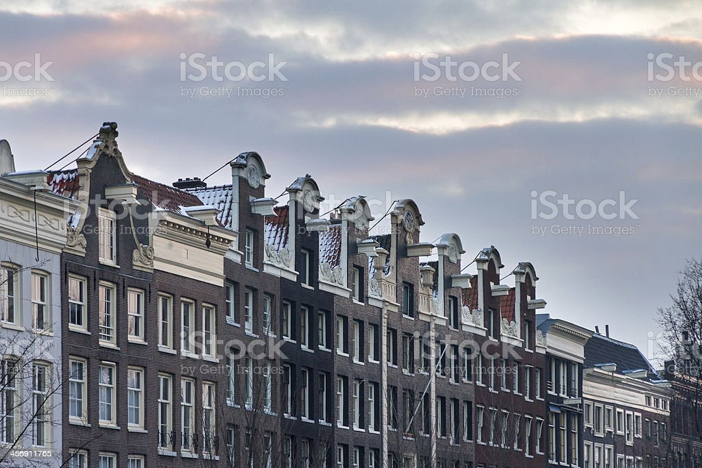 Amsterdam town houses stock photo
