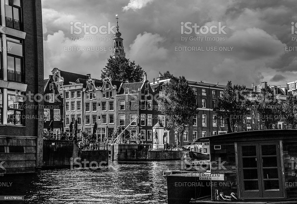 Amsterdam Traditional Architecture and Canal stock photo