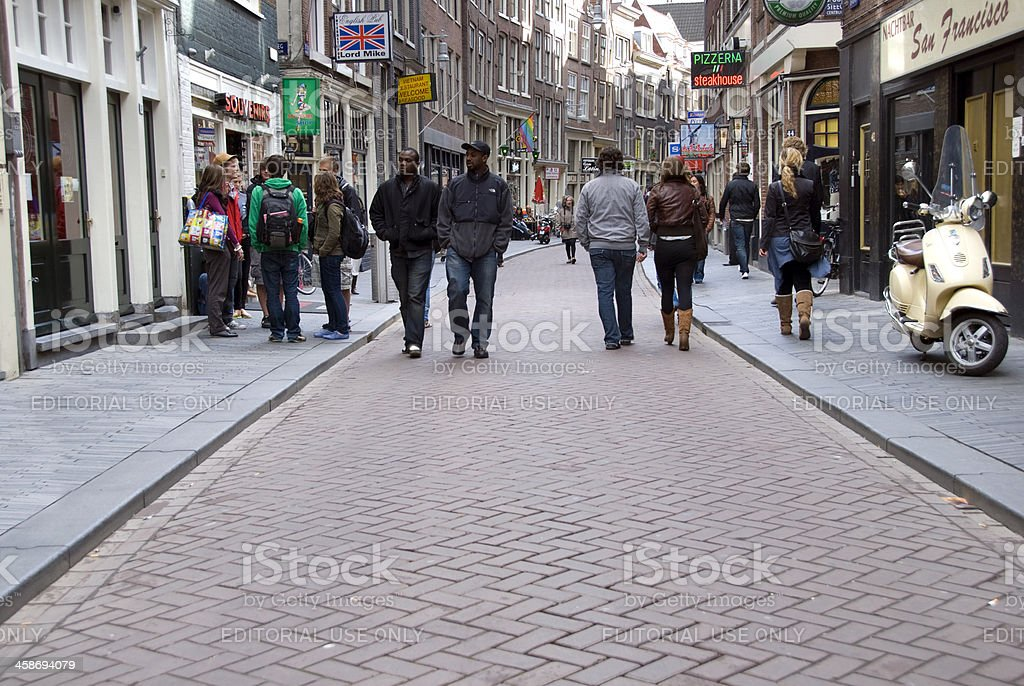 Amsterdam Zeedijk royalty-free stock photo