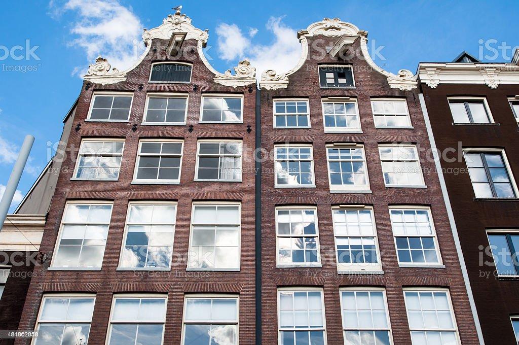 Amsterdam17th century residence building, Netherlands. stock photo