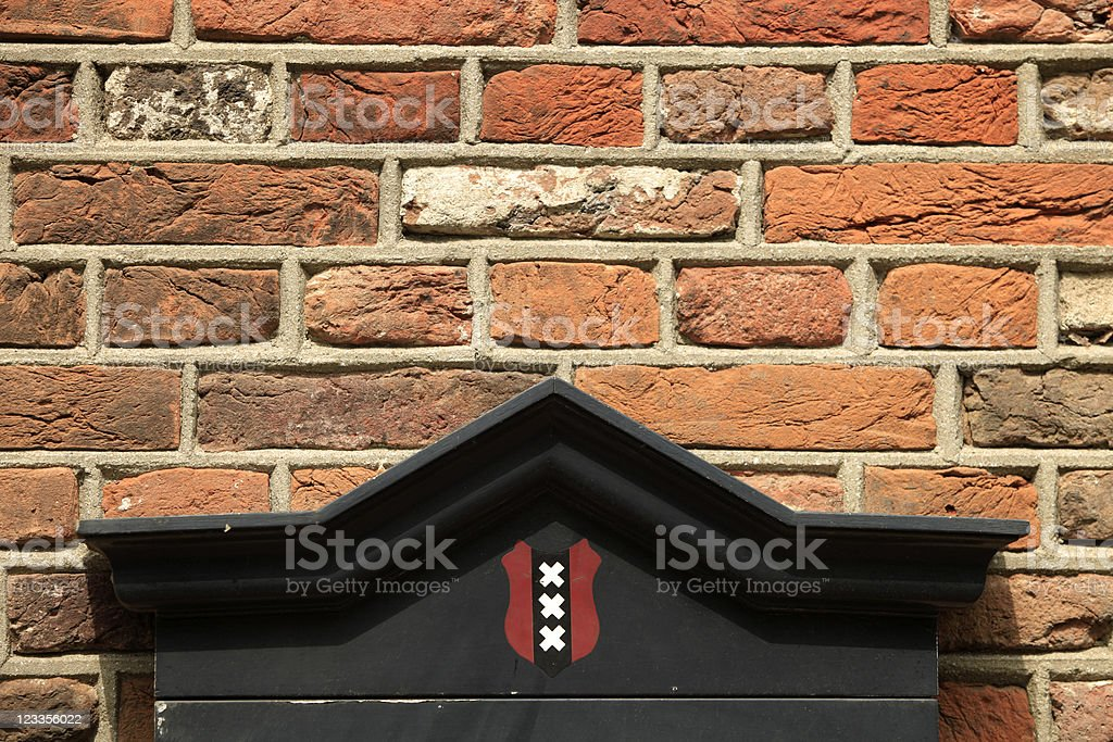Amsterdam's official coat of arms stock photo