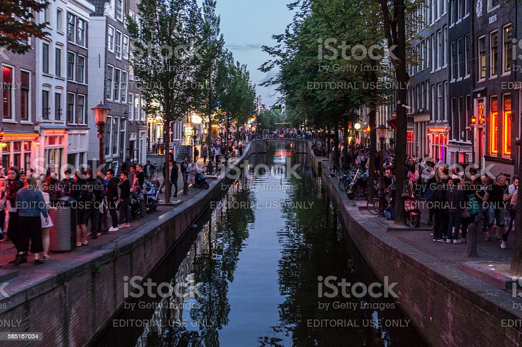 Amsterdam's Red Light District stock photo