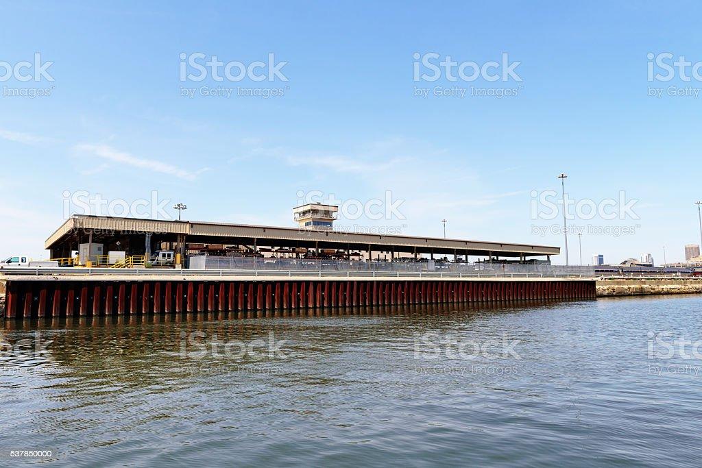 Amtrak maintenance facility, Chicago stock photo