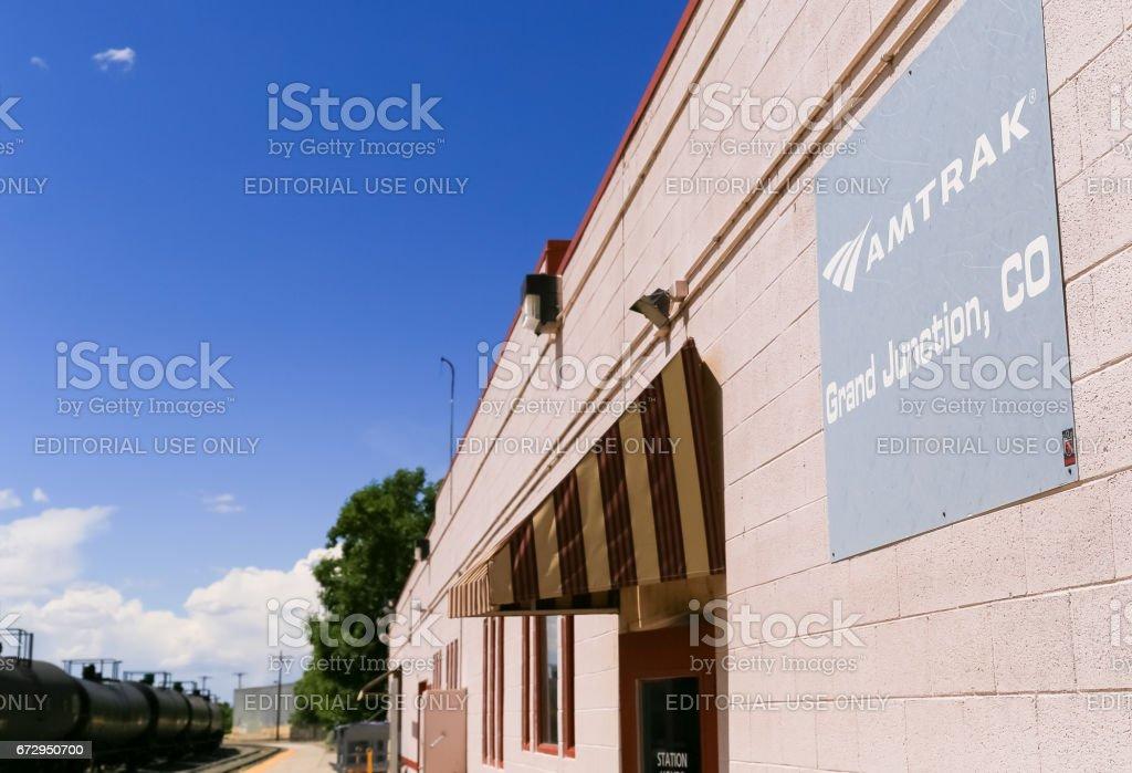 Amtrak Station in Grand Junction stock photo