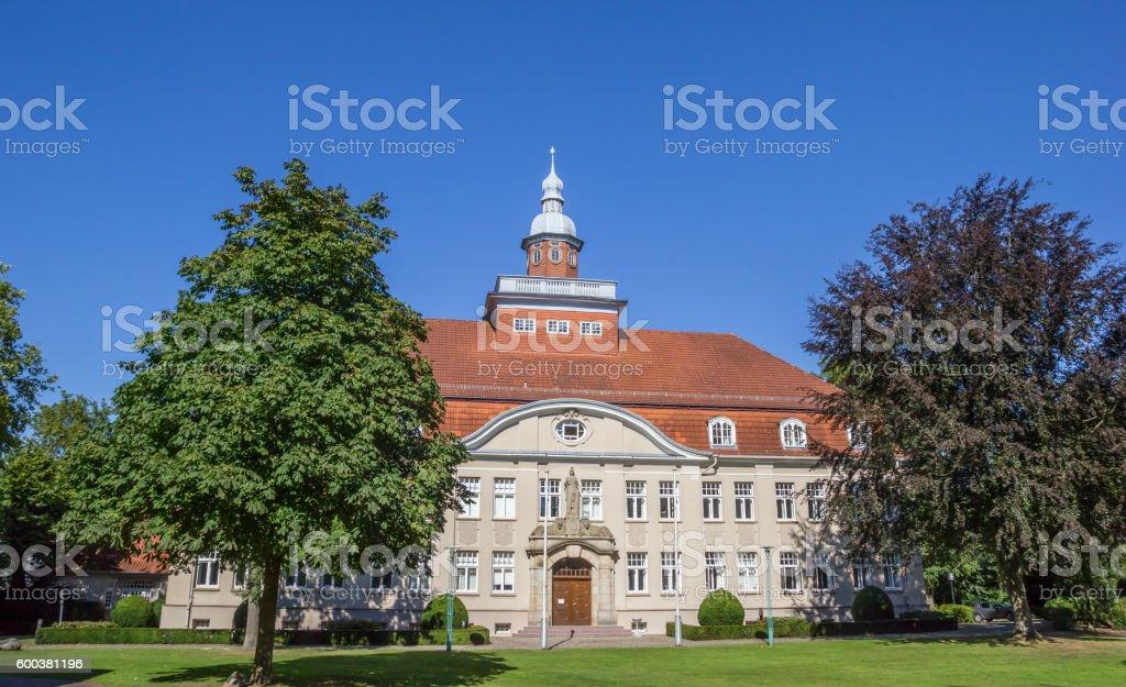 Amtsgericht in the city park in Cloppenburg stock photo