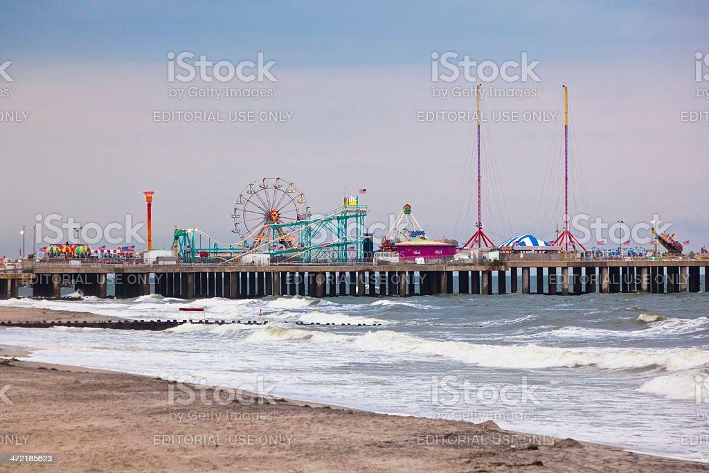 Amuesment Park at Steel Pier Atlantic City, NJ royalty-free stock photo