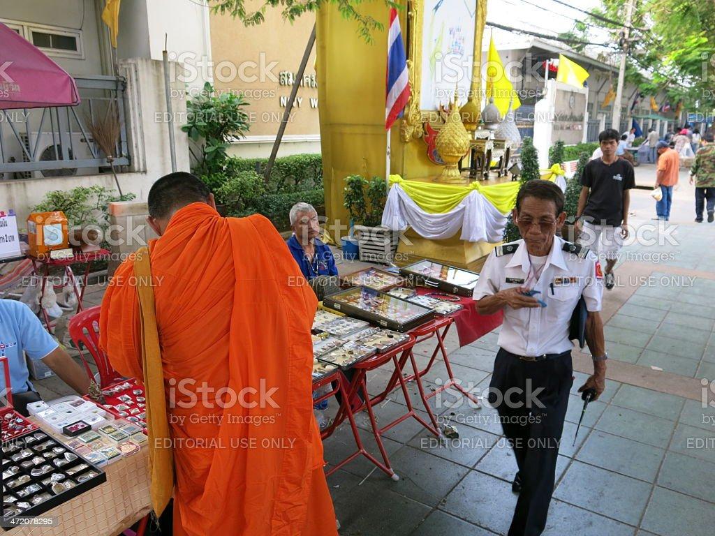 Amulet and Buddhism stock photo