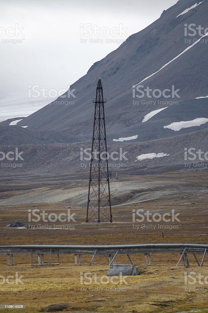 Amundsen Mast stock photo