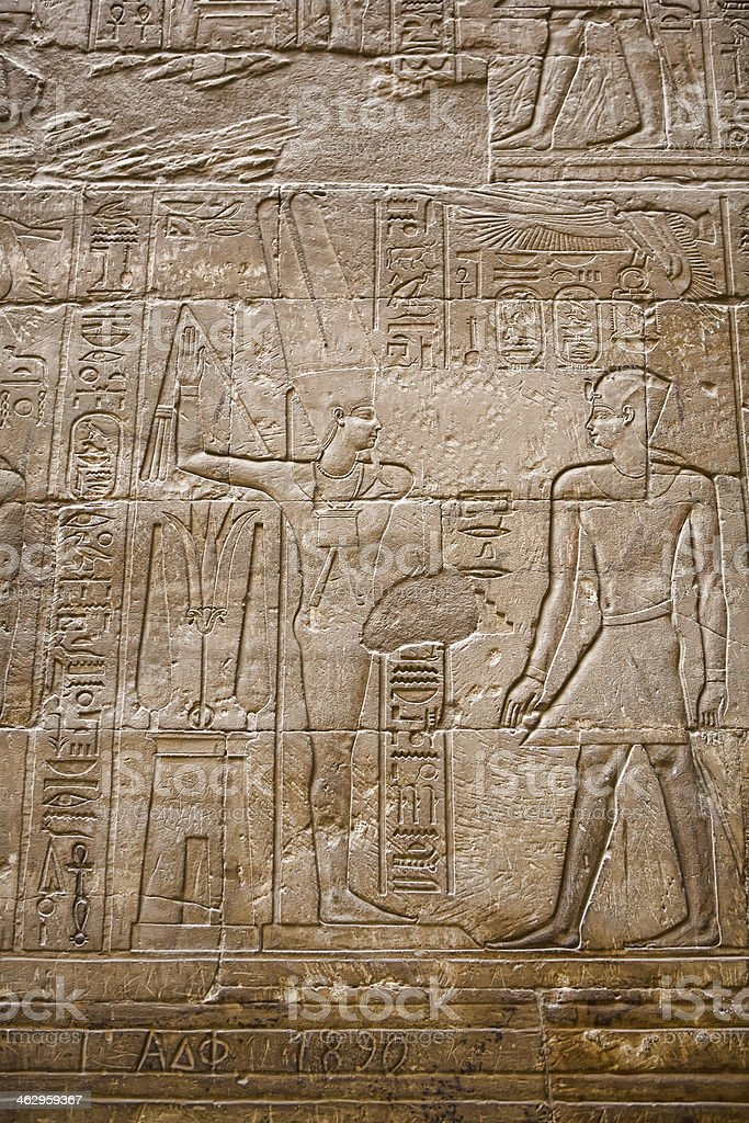 Amun-Re and Alexander the Great royalty-free stock photo