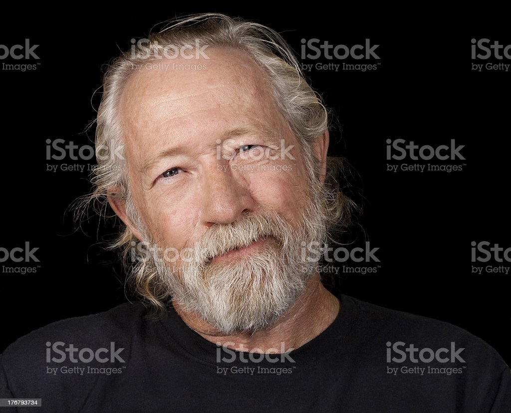 Amused retired man royalty-free stock photo