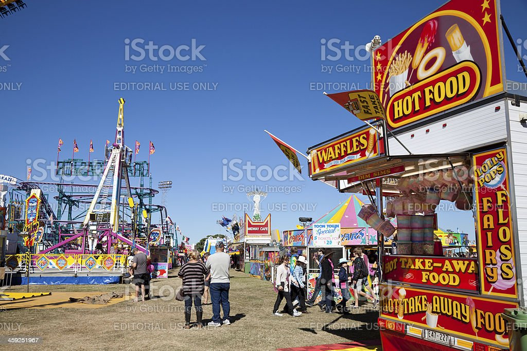 Amusement Park Carnival Games Sideshow Alley stock photo