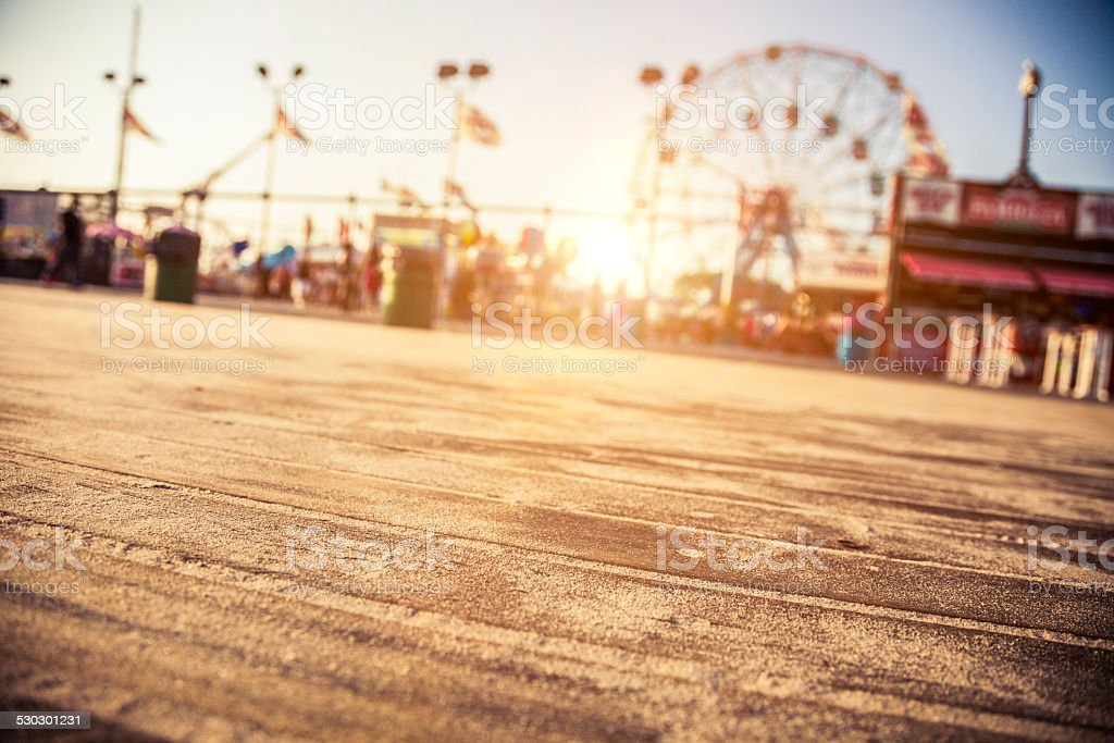 Amusement Park in Coney Island - NY stock photo