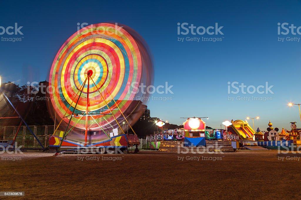 Amusement park in Nessebar city at the coastal street stock photo