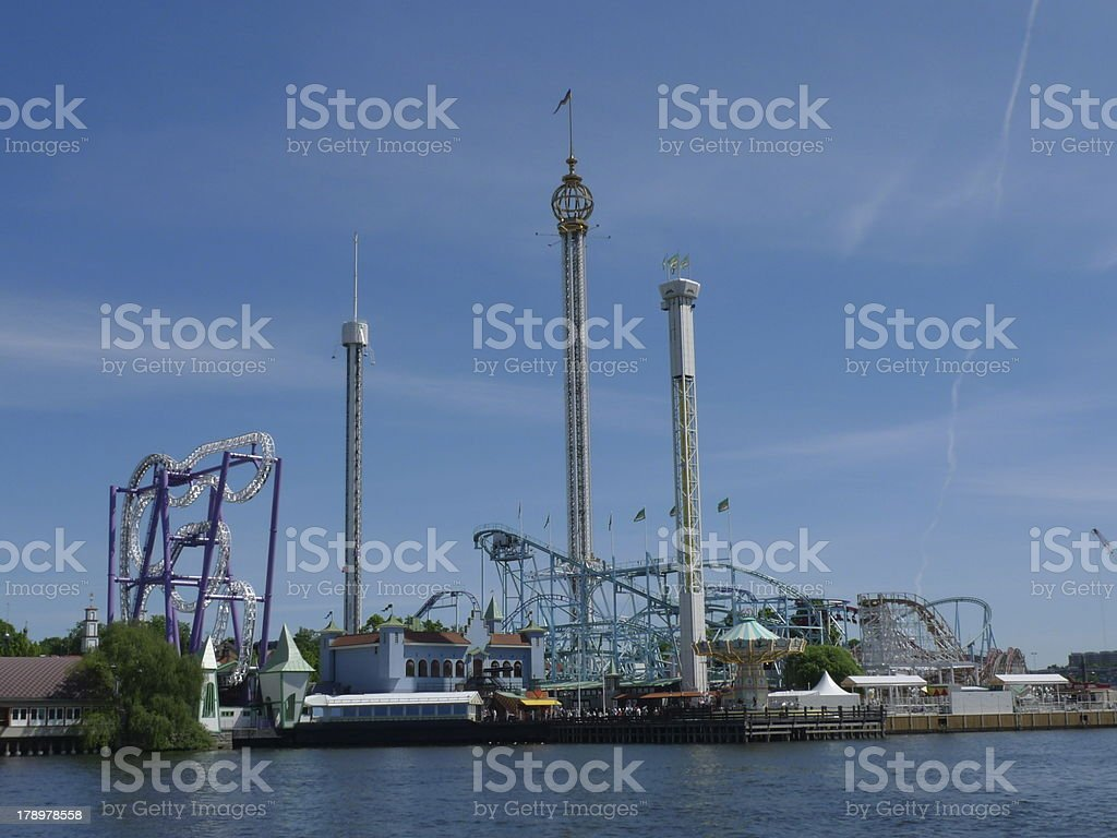 amusement park in stockholm royalty-free stock photo