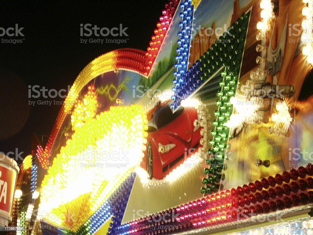 Amusement Park Lights royalty-free stock photo