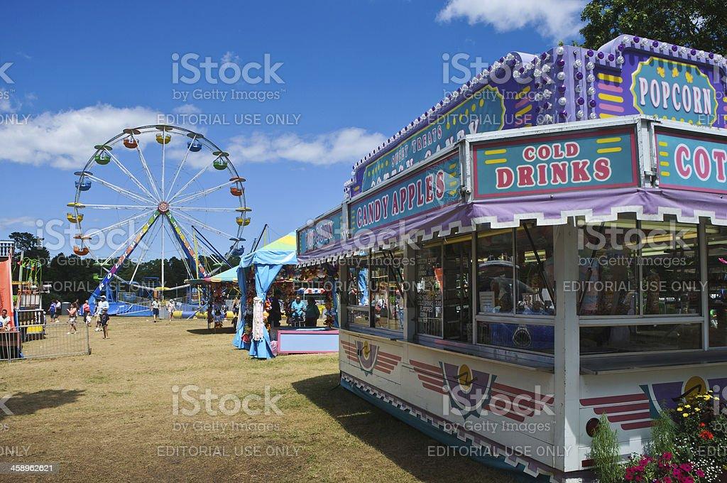 Amusement Park Midway stock photo