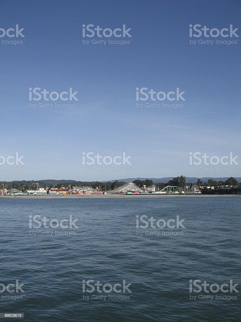 Amusement Park on the coast royalty-free stock photo