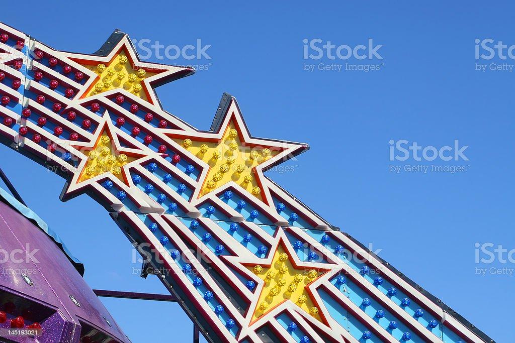 Amusement Park Ride Lights stock photo