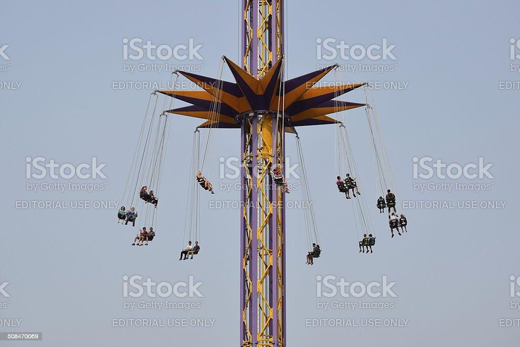 Amusement Park Ride-ATMOSFEAR stock photo