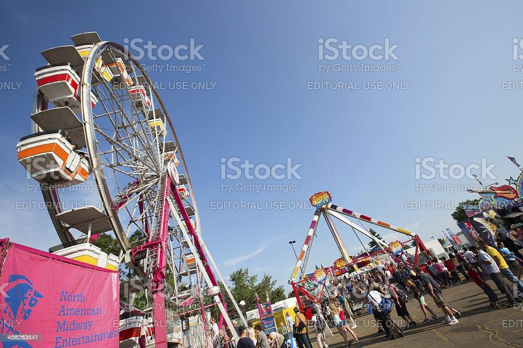 Amusement Park rides royalty-free stock photo